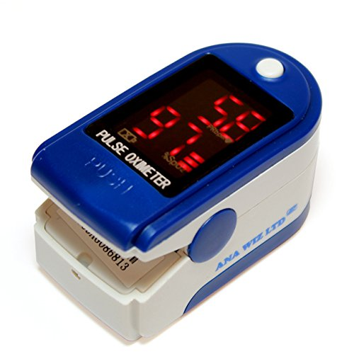 Finger Pulse Oximeter With LED Display (Includes Carrycase, Batteries and...