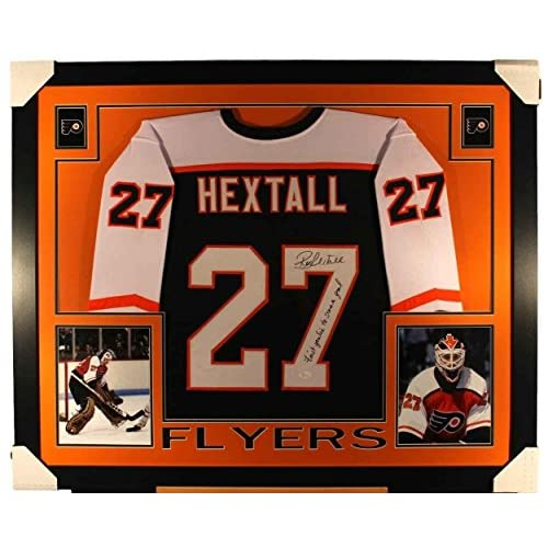 quality design 7a102 52efe cheap Ron Hextall Signed Jersey - Framed 35x43 Custom Black ...