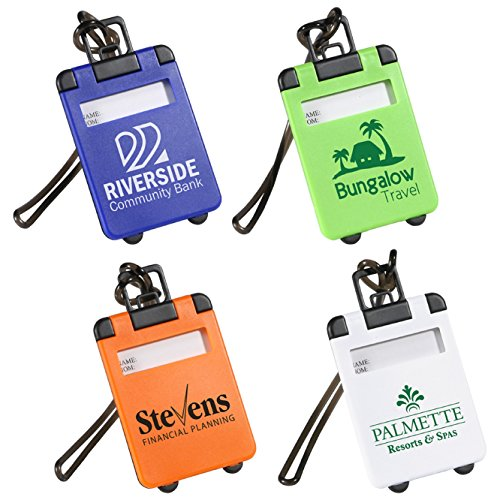 200 Custom Travel Tote Luggage Tag Imprinted with Your Logo or Message by Ummah Promotions