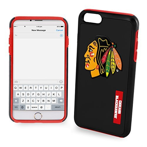 NHL Chicago Blackhawks IPhone 6 Dual Hybrid Case (2 Piece), Black by Forever