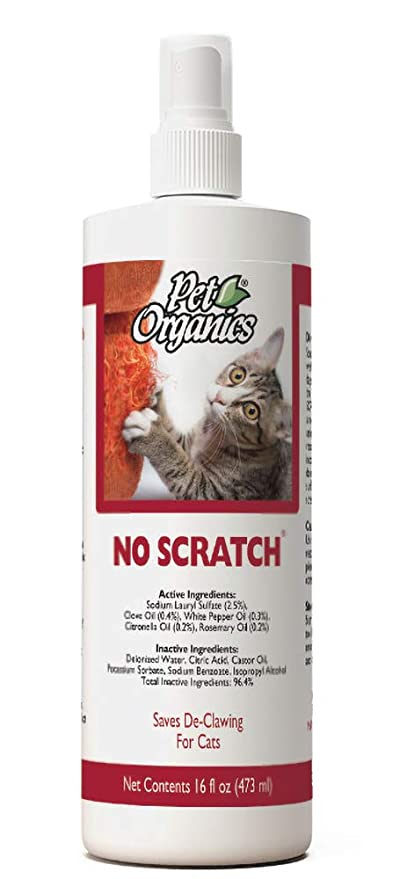 Strange Naturvet Pet Organics No Scratch Spray For Cats 16 Oz Unique Formula Discourages Cats Innate Desire To Claw Safe For Use On Furniture Interior Design Ideas Gresisoteloinfo