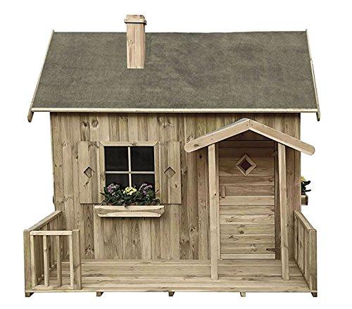 Spielhaus Maja- Kinderspielhaus Holz für den Garten, FSC zertifieziert/ TÜV geprüft inkl. Dachpappe