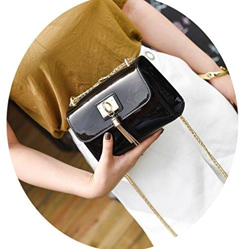 BZLine® Damen Messenger Taschen Slim Crossbody Umhängetasche Tasche, 18cm*7cm*14cm Schwarz