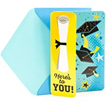 "Hallmark Funny Graduation Greeting Card With Song and Light (Graduation Caps and Diploma, Plays ""U Can't Touch This"" by MC Hammer)"