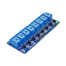 Lysignal DC 5V 8 Channel Relay Module Interface Board for 51/AVR/AVR/ARM with Optocoupler Protection
