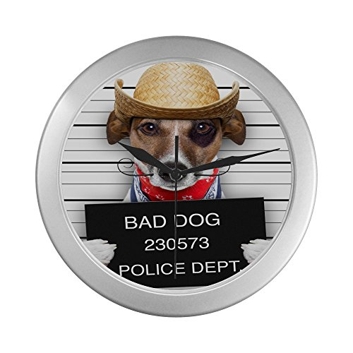 Bad Dog - Police Lineup - Dog Criminal Cute Puppy Wall Clock