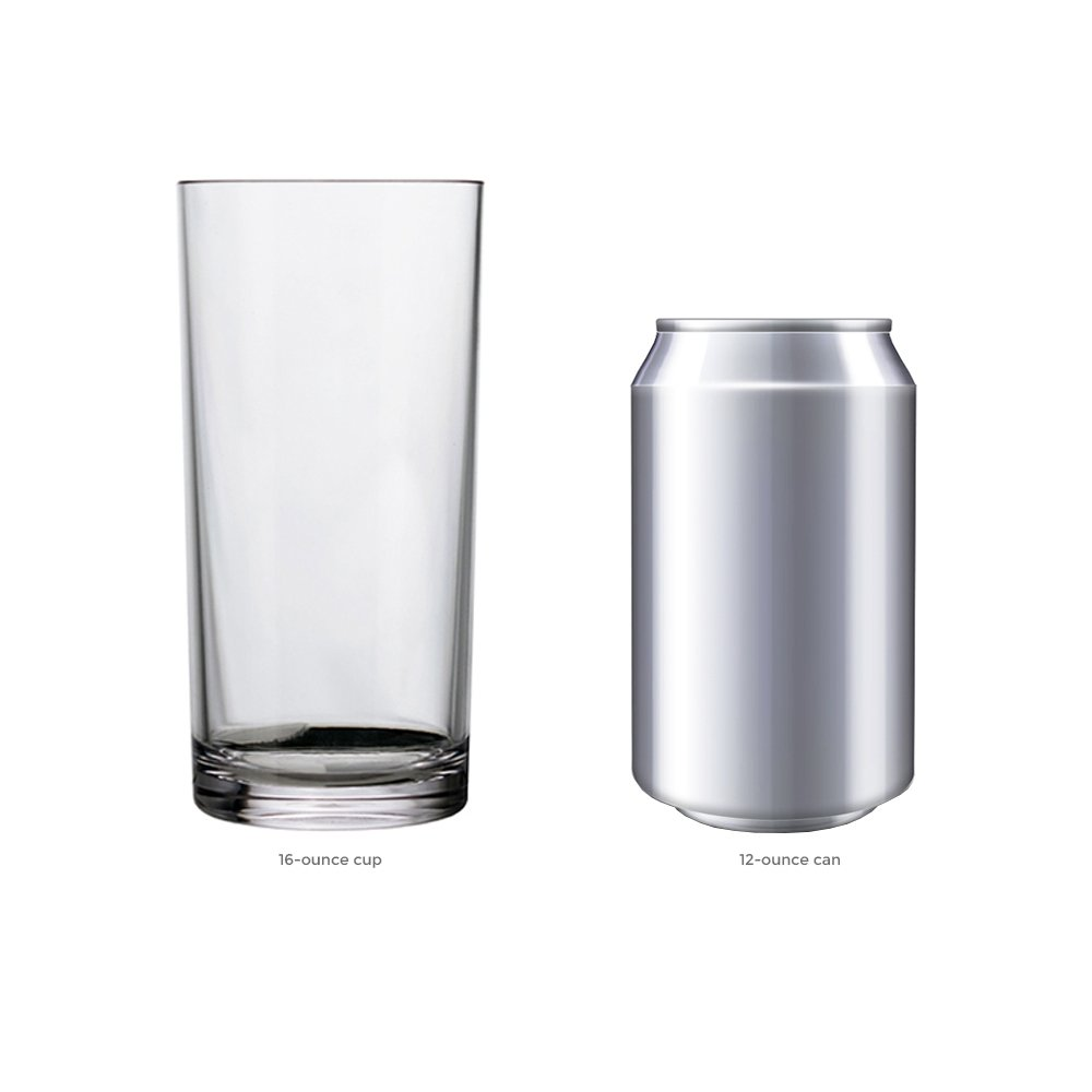 Classic 16-ounce Premium Quality Plastic Water Tumbler | Clear Set of 6 by US Acrylic (Image #4)