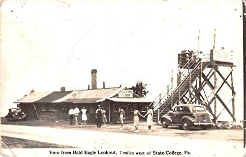 - Bald Eagle Lookout Pennsylvania Uncle Toms Cabin Real Photo Postcard J66677