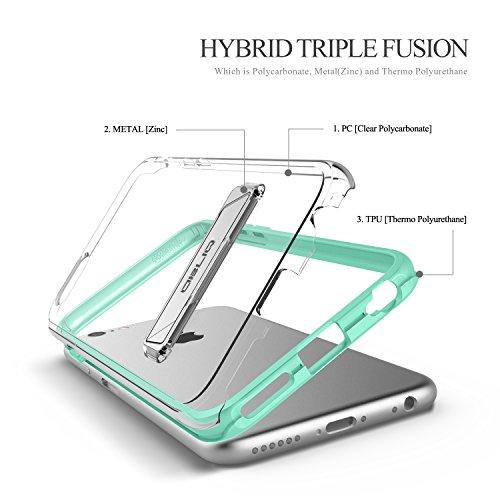 obliq obip6s naked02Naked Shield cas avec support de Place pour Apple iPhone 6/6S Menthe