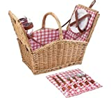 Picnic Time Piccadilly Dual-Lid Picnic Basket