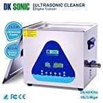 Commercial Ultrasonic Gun Cleaner Heated - DK SONIC 15L 360W Ultrasonic Carburetor Cleaner for Parts Jewelry Brass Eyeglass Ring Record Fuel Injector Glasses Diamond Circuit Board 28/40KHz