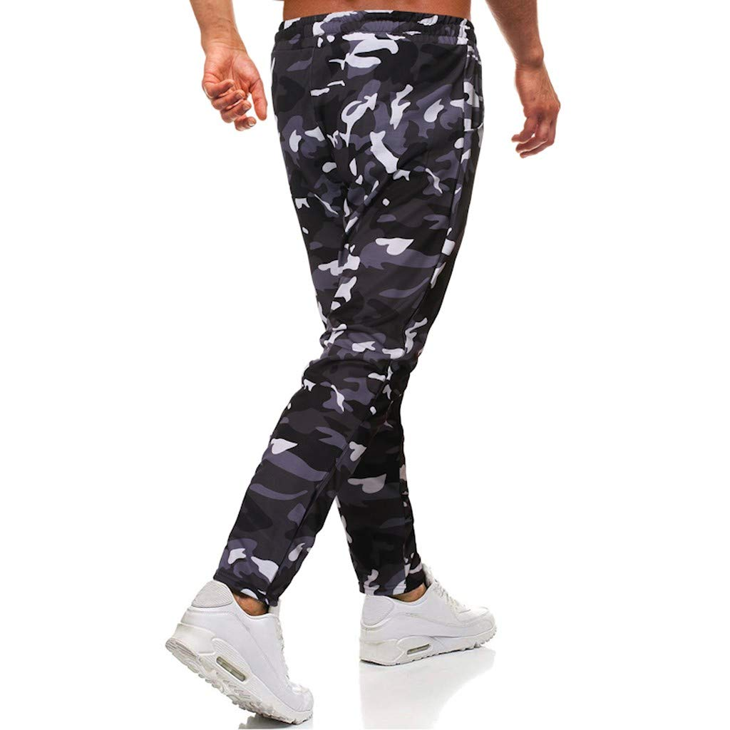 JiaMeng Casuales Pantalones para Hombre Pantalones de pantalón ...