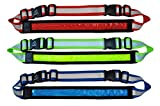 LED Reflective Belt + Free Extension Belt - High Visibility Gear for Running, Cycling, Walking - Safer and Brighter Than a Reflective Vest - Green, Red, and Blue Running Light