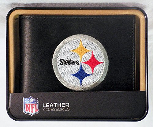 - Rico Pittsburgh Steelers Embroidered Leather Billfold Wallet