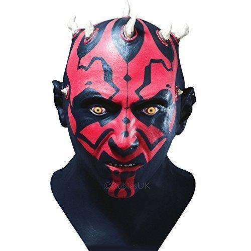 - Adults Rubies Star Wars Darth Maul Full Overhead Fancy Dress Accessory Latex Mask by Top