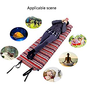 Self Inflating Mattress Camping,Inflatable Camping Bed Sleeping Mat Lightweight Foam Sleeping Pad Bags