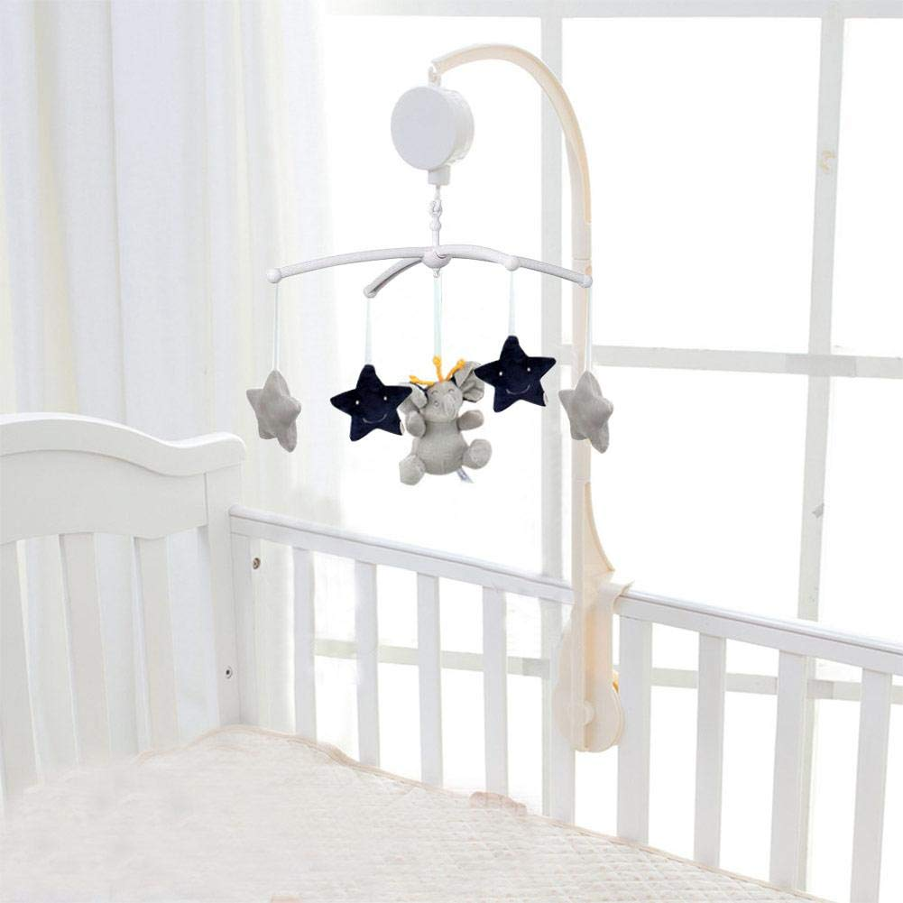 Luerme Mobile Music Box Baby Crib Mobile Bed Bell Toy Holder Arm Bracket Wind-up Cradlesong Musical Toy 66cm