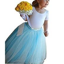 GU ZI YANG Flower Girl Tulle Tutu Skirts Floor length Children Toddler Party Dress 80