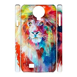 Lion Customized 3D Cover Case for SamSung Galaxy S4 I9500,custom phone case ygtg541661