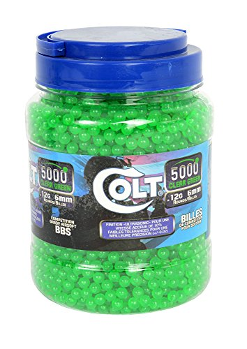 Colt Competition .12 g 6mm Green BBS, 5,000 Count