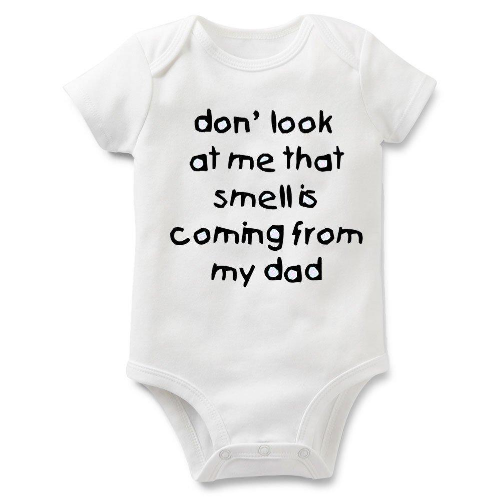 Funny Slogan Super Soft Cotton Baby Onesies Comfy Short Sleeve Bodysuit(5M  dad5)