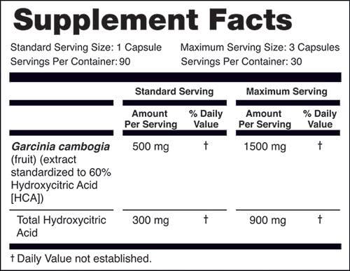 NatureWise Pure Garcinia Cambogia | 100% Natural HCA Extract Supports Weight Loss and Curbs Appetite with Superior Absorption [1 Month Supply - 90 Count]