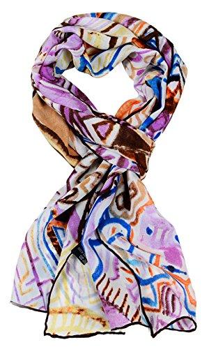 Salutto Women 100% Silk Scarf Van Gogh Monet Famous Painter Painted Scarves 31 (Vera Silk Scarf)