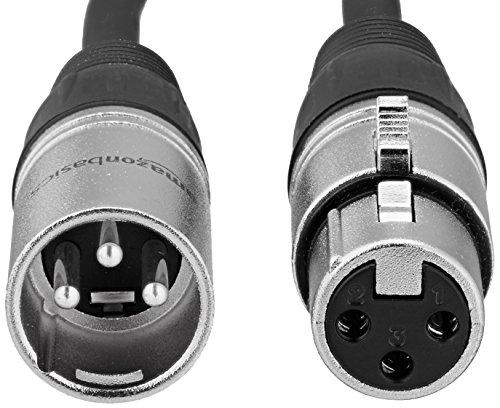 AmazonBasics XLR Male to Female Microphone Cable - 25 Feet, Black