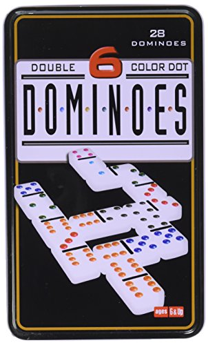 Double 6 Dominoes in Tin Action Game, One - Tin Double Dominoes Six