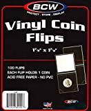 "100 Pcs. 1-7/8"" x 1-7/8"" Vinyl Coin Flips, Coin Holders"