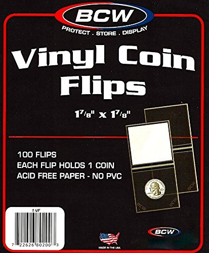 Pcs Vinyl Coin Flips Holders