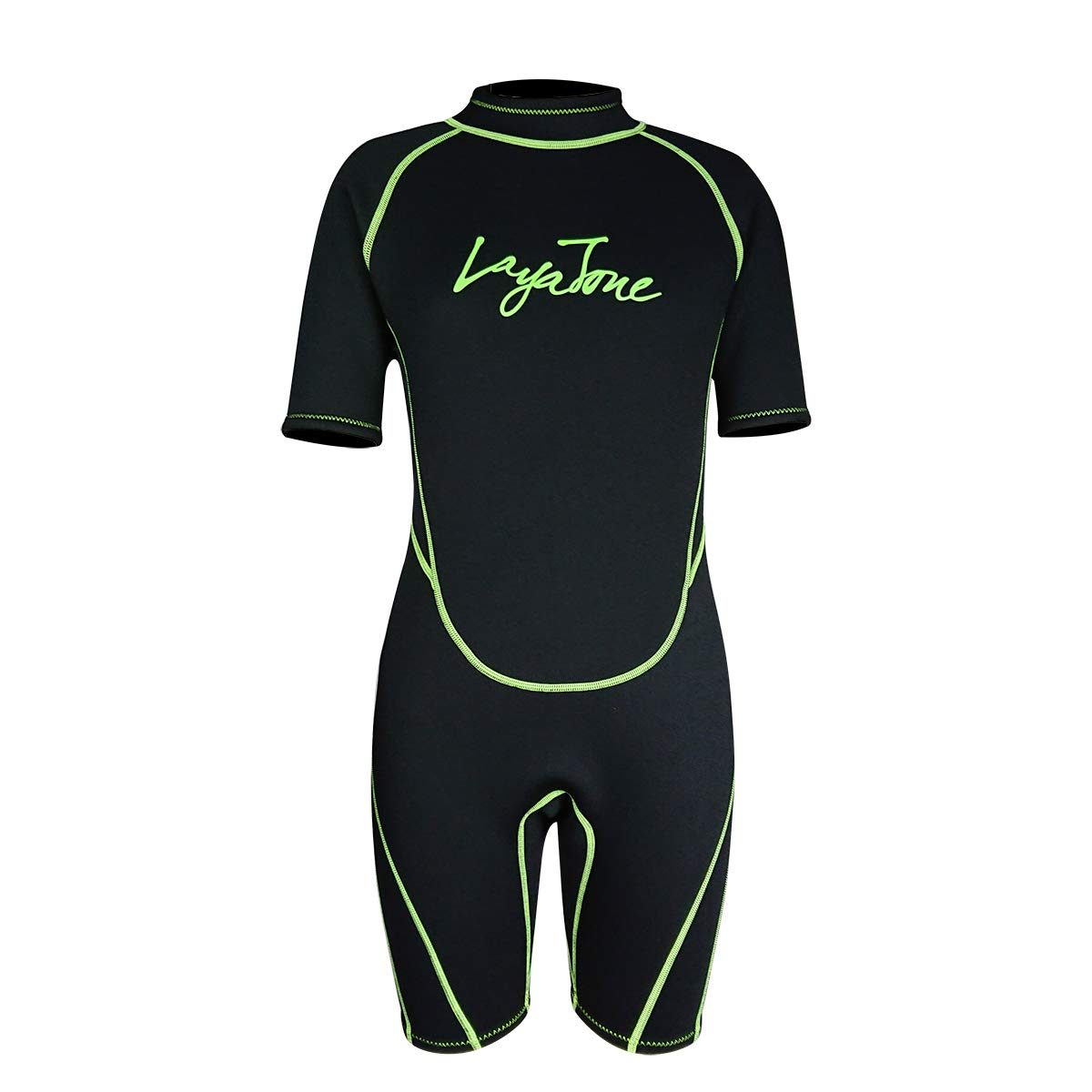 Layatone 3mm Shorty Wetsuit Adults Scuba Diving Suit Men Women Neoprene Wetsuits Thermal One Piece Swimsuit Surf Suit Shorty Suits (Black,L) by Layatone