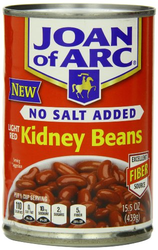 Joan of Arc Light Red Kidney Beans, No Salt Added, 15.5 Ounce (Pack of 12)