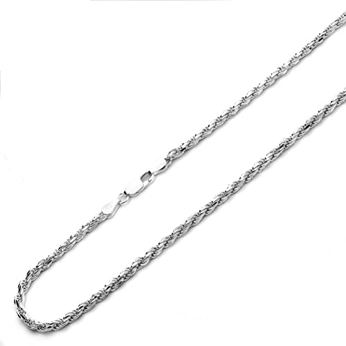 """STERLING SILVER ITALY DC ROPE CHAIN NECKLACE 18/"""" 3.5mm"""