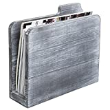 MyGift Rustic Graywashed Wooden File Folder-Shaped Magazine Holder
