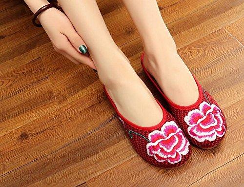De Casa Lona Lazutom Por Estar Red Mujer Zapatillas Para 5IxwRx1p