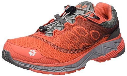 W Orange Coral Jack Damen Zenon Track Traillaufschuhe Hot Low Wolfskin wwaUXSOq