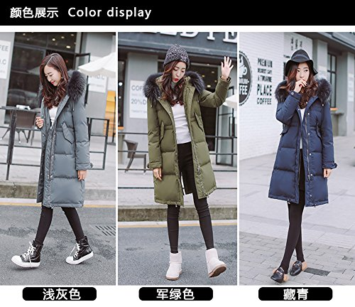Generic Special-season Korean new long section thick winter jacket female loose waist was thin oversized fur collar coat for women girl by Generic (Image #4)