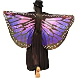 Soft Fabric Butterfly Wings Shawl Fairy Ladies Nymph Pixie Costume Accessory(Blue Green)