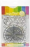 Waffle Flower Crafts WFC191 Waffle Flower Stamp & Die Set-Color Wheels,