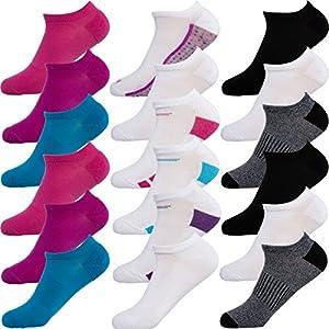Hanes18 Pairs Women's No Show Socks Premium Soft Lightweight Color Collection Comfort Blend