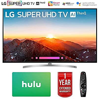 "LG 75SK8070PUA 75"" Class 4K HDR Smart LED AI SUPER UHD TV w/ThinQ (2018 Model) with Hulu $100 Gift Card & 1 Year Extended Warranty"
