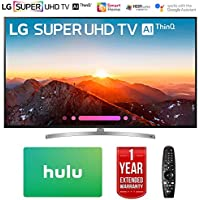 LG 75SK8070PUA 75 Class 4K HDR Smart LED AI Super UHD TV w/ThinQ (2018 Model) with Hulu $100 Gift Card & 1 Year Extended Warranty