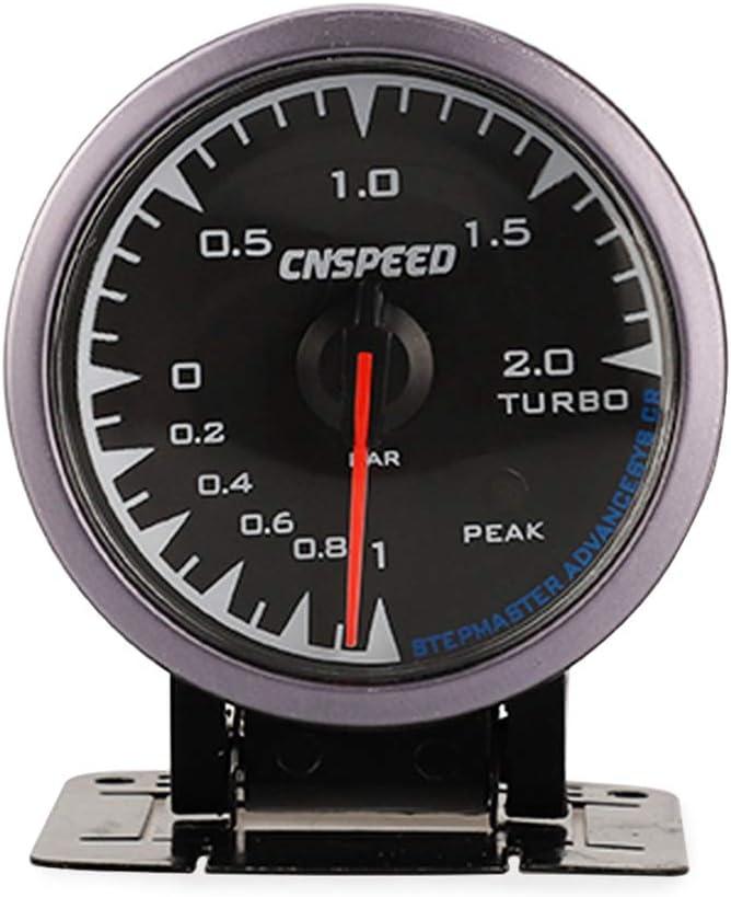 Rekkles LED Vehicules Turbo jauge de Pression de suralimentation Compteur 7 Couleur Backlight Accessoires Voiture 12V 2.5inch 0-2bar