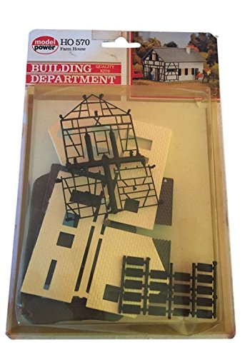 Model Power Farm House HO Scale 570 Building Kit Sealed in Package
