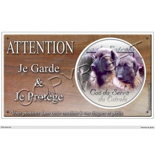 Panneau chien ou plaque Cao-da-Serra-da-Estrela 30 cm