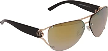 afa2d0493f SouthPole Eyewear Semi Rimless Aviator (Gold Black)