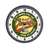 Cheap CafePress – Dad's Garage – Unique Decorative 10″ Wall Clock
