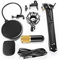 BM800 Professional Studio Broadcasting Recording Condenser Microphone Set