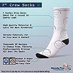 Funny Mens Socks Akbash Dog Breed Style A Polyester Crazy Socks Womens 6